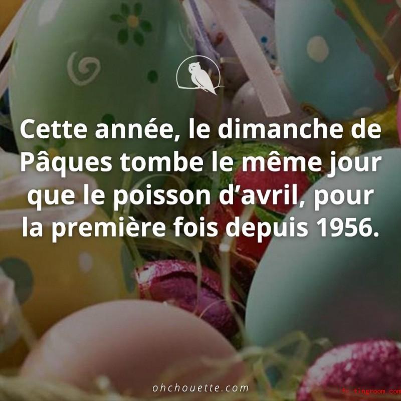 Cette année, le dimanche de Pâques