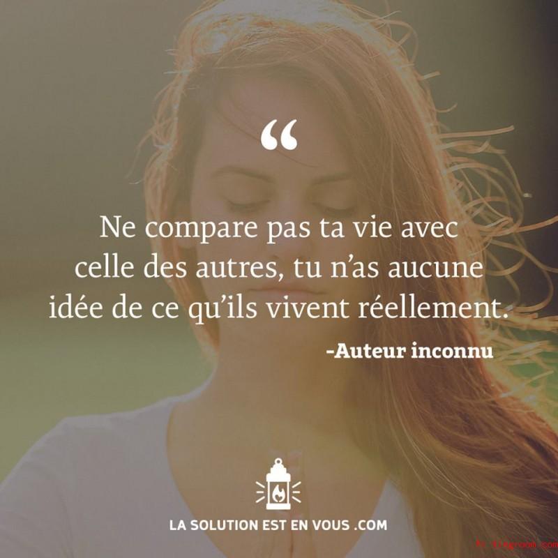 Ne compare pas ta vie avec celle des autres