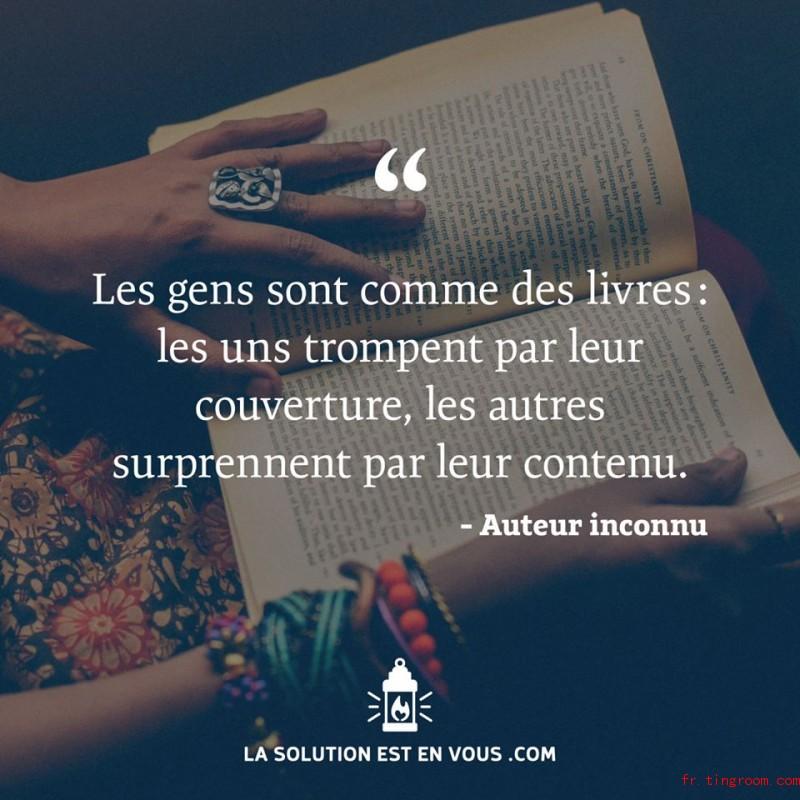 Les gens sont comme les livres