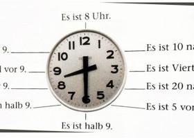柏林廣場新版A1:第4課 時間 課文:用德語描述時間時刻
