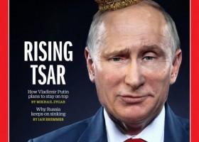 普京头戴皇冠登上《时代》周刊封面