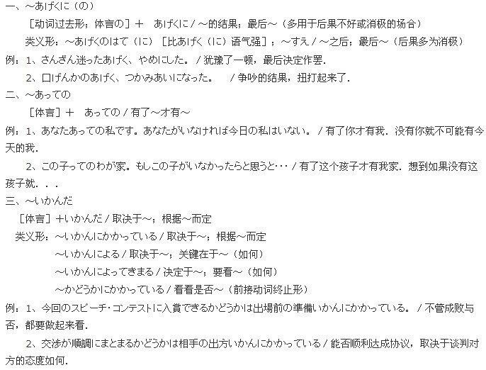 日語能力考試一級語法(1)