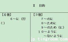 日語三級語法:18、目的